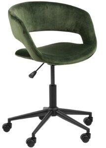Aksamitne krzesło biurowe na kółkach grace vic