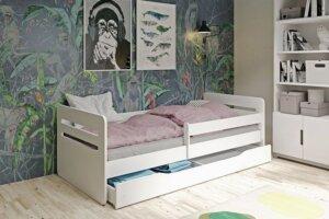 Łóżko dla dziecka z barierką candy 2x 80×160 – zielone
