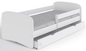 Łóżko dziecięce z barierką happy 2x 80×180 – białe