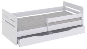 Łóżko dla dziecka z materacem candy 2x 80×180 – białe