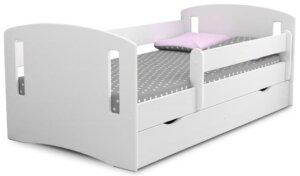 Łóżko dziecięce z materacem pinokio 3x 80×140 – białe