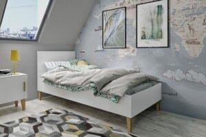 Skandynawskie łóżko dziecięce maurycy 4x 90×200 – białe