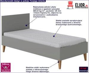 Łóżko dla dziecka maurycy 4x 90×200 – szare