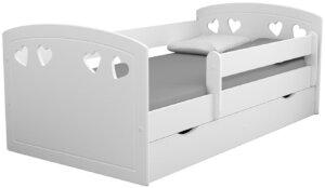 Łóżko dla dziewczynki z barierką nolia 2x 80×160 – białe
