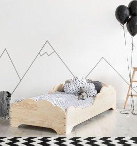 Drewniane łóżko dziecięce lexin 10x – 21 rozmiarów 90x170cm