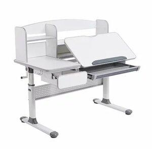 Białe biurko do pokoju dziecka z regulacją wysokości rimu