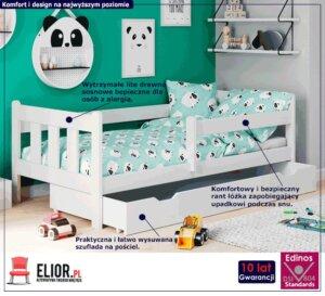 Dziecięce łóżko z szufladą kacper – białe