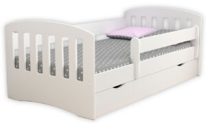 Łóżko dziecięce z materacem pinokio 2x 80×140 – białe