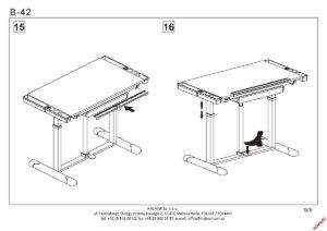 Regulowane biurko do pokoju dziecięcego b42