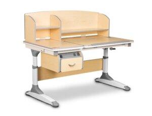 Dziecięce biurko z nadstawką i pochylanym blatem torino brązowy