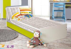 Łóżko młodzieżowe z szufladą na pościel irene lime 200×90