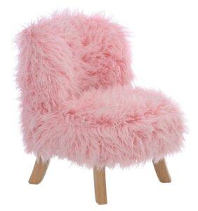 Różowy fotel do pokoju dziecka somebunny futrzak