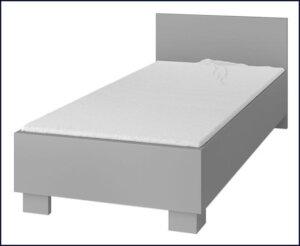 Dziecięce łóżko piccolo 15x – szary