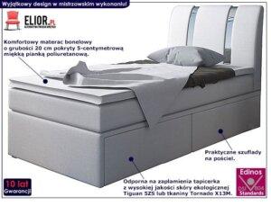 Łóżko z szufladami na pościel varris 90×200 – 25 kolorów