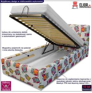 Łóżko z pojemnikiem na pościel dinks 90×200 – 45 kolorów