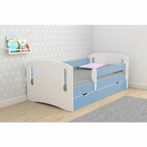 Łóżko dla chłopca z szufladą pinokio 3x 80×160 – niebieskie