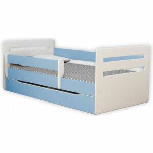 Łóżko dla chłopca z materacem candy 2x 80×180 – niebieskie