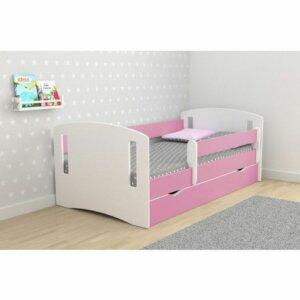 Łóżko dla dziewczynki z materacem pinokio 3x 80×140 – różowe