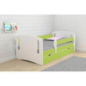 Łóżko dziecięce z szufladą pinokio 3x 80×160 – zielone