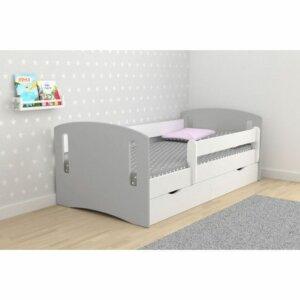 Łóżko dziecięce z szufladą pinokio 3x mix 80×180 – szare