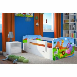 Dziecięce łóżko z szufladą happy 2x mix 80×180 – białe
