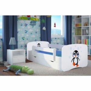 Łóżko dla dziecka z szufladą happy 2x mix 80×180 – białe