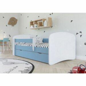 Łóżko dla chłopca z materacem happy 2x 70×140 – niebieskie