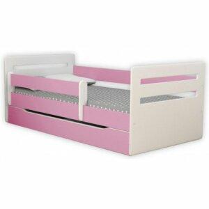 Łóżko dla dziewczynki z materacem candy 2x 80×140 – różowe