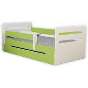 Łóżko dziecięce z szufladą candy 2x 80×140 – zielone