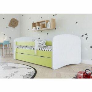 Łóżko dla dziecka z materacem happy 2x 80×160 – zielone