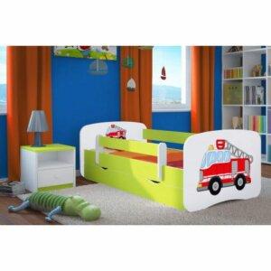 Łóżko dziecięce z szufladą happy 2x mix 70×140 – zielone