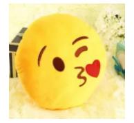 Poduszka emoji kiss całus